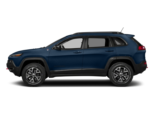 Patriot Blue Pearlcoat 2018 Jeep Cherokee Pictures Cherokee Utility 4D Trailhawk 4WD photos side view