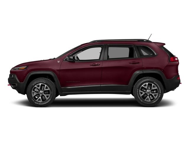 Velvet Red Pearlcoat 2018 Jeep Cherokee Pictures Cherokee Utility 4D Trailhawk 4WD photos side view