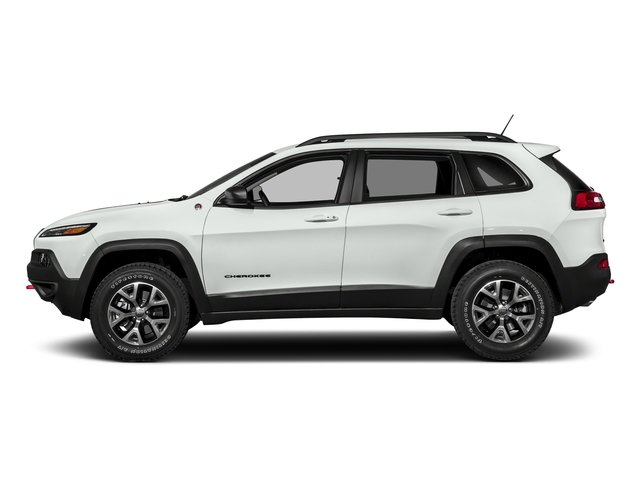 Bright White Clearcoat 2018 Jeep Cherokee Pictures Cherokee Utility 4D Trailhawk 4WD photos side view