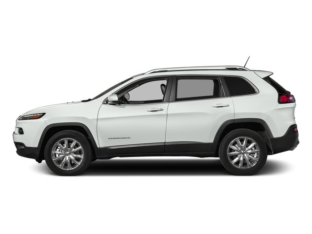 Bright White Clearcoat 2018 Jeep Cherokee Pictures Cherokee Utility 4D Limited 2WD photos side view