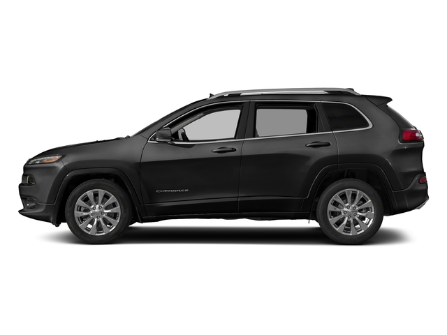 Diamond Black Crystal Pearlcoat 2018 Jeep Cherokee Pictures Cherokee Utility 4D Overland 4WD photos side view