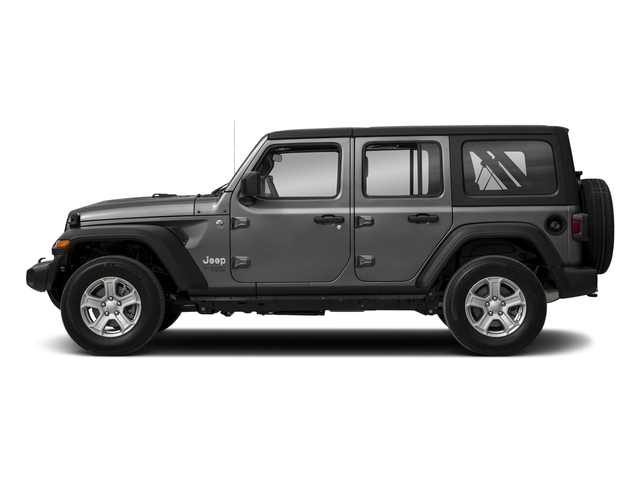 Sting-Gray Clearcoat 2018 Jeep Wrangler Unlimited Pictures Wrangler Unlimited Sport 4x4 photos side view