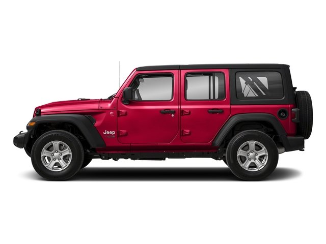 Firecracker Red Clearcoat 2018 Jeep Wrangler Unlimited Pictures Wrangler Unlimited Sport 4x4 photos side view