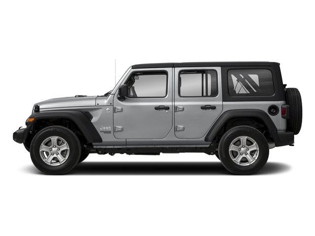 Billet Silver Metallic Clearcoat 2018 Jeep Wrangler Unlimited Pictures Wrangler Unlimited Sport 4x4 photos side view