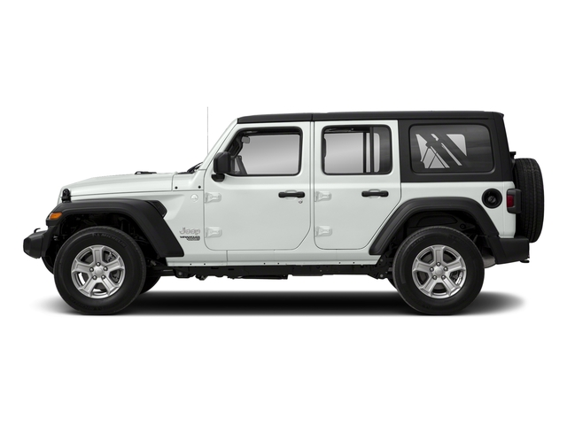 Bright White Clearcoat 2018 Jeep Wrangler Unlimited Pictures Wrangler Unlimited Sport 4x4 photos side view