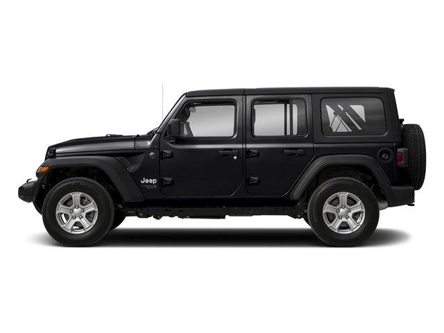 Black Clearcoat 2018 Jeep Wrangler Unlimited Pictures Wrangler Unlimited Sport 4x4 photos side view