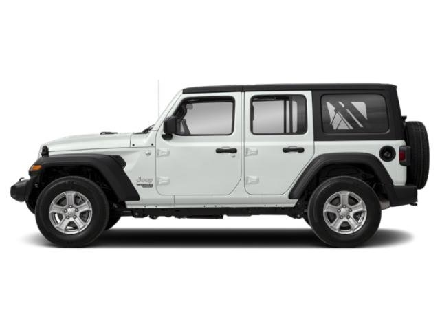 Bright White Clearcoat 2018 Jeep Wrangler Unlimited Pictures Wrangler Unlimited Utility 4D Sport 4WD V6 photos side view