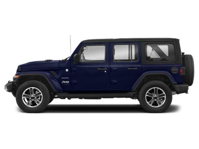 Ocean Blue Metallic Clearcoat 2018 Jeep Wrangler Unlimited Pictures Wrangler Unlimited Utility 4D Sahara 4WD V6 photos side view