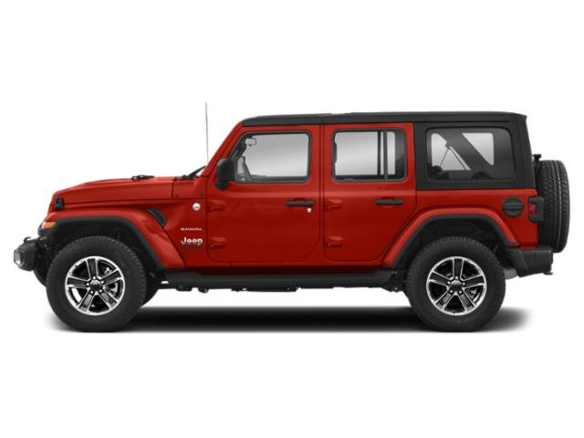 Firecracker Red Clearcoat 2018 Jeep Wrangler Unlimited Pictures Wrangler Unlimited Utility 4D Sahara 4WD V6 photos side view