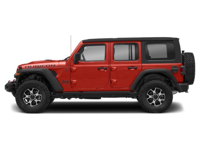 Firecracker Red Clearcoat 2018 Jeep Wrangler Unlimited Pictures Wrangler Unlimited Utility 4D Rubicon 4WD V6 photos side view