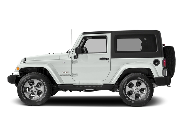 Bright White Clearcoat 2018 Jeep Wrangler JK Pictures Wrangler JK Utility 2D Sahara 4WD photos side view