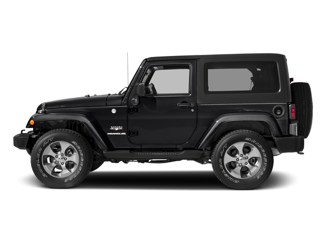Black Clearcoat 2018 Jeep Wrangler JK Pictures Wrangler JK Utility 2D Sahara 4WD photos side view