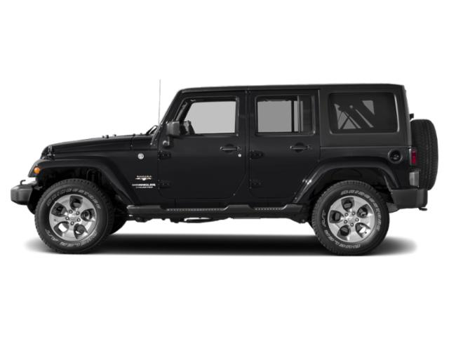 Black Clearcoat 2018 Jeep Wrangler JK Unlimited Pictures Wrangler JK Unlimited Utility 4D Unlimited Sahara 4WD photos side view