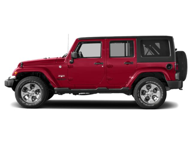 Firecracker Red Clearcoat 2018 Jeep Wrangler JK Unlimited Pictures Wrangler JK Unlimited Utility 4D Unlimited Sahara 4WD photos side view