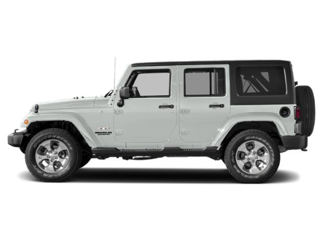 Bright White Clearcoat 2018 Jeep Wrangler JK Unlimited Pictures Wrangler JK Unlimited Sahara 4x4 photos side view