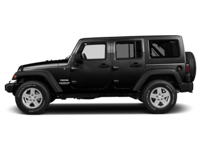 Black Clearcoat 2018 Jeep Wrangler JK Unlimited Pictures Wrangler JK Unlimited Utility 4D Unlimited Sport 4WD photos side view
