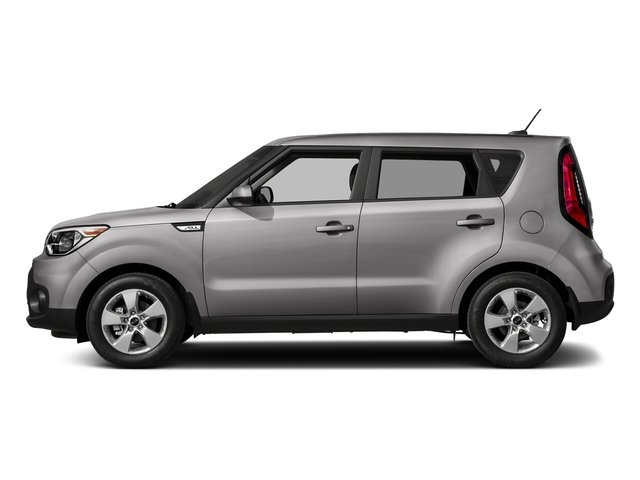 Bright Silver 2018 Kia Soul Pictures Soul Base Auto photos side view