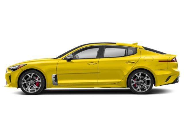 Sunset Yellow 2018 Kia Stinger Pictures Stinger GT RWD photos side view