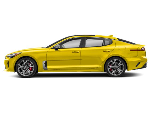 Sunset Yellow 2018 Kia Stinger Pictures Stinger GT2 RWD photos side view