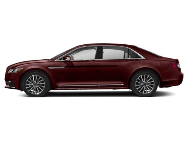Burgundy Velvet Metallic Tinted Clearcoat 2018 Lincoln Continental Pictures Continental Sedan 4D Select AWD V6 photos side view