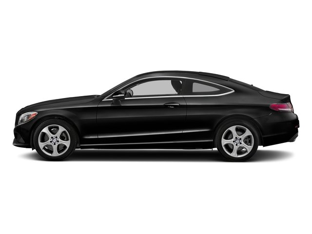 Obsidian Black Metallic 2018 Mercedes-Benz C-Class Pictures C-Class C 300 4MATIC Coupe photos side view