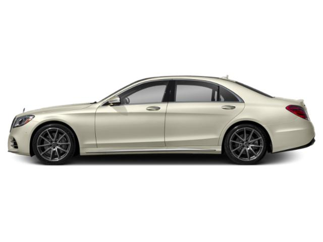 designo Diamond White 2018 Mercedes-Benz S-Class Pictures S-Class S 450 4MATIC Sedan photos side view