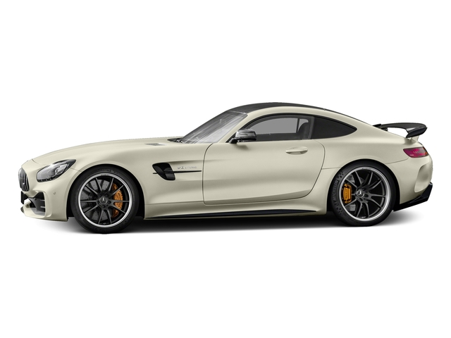 designo Diamond White Metallic 2018 Mercedes-Benz AMG GT Pictures AMG GT AMG GT R Coupe photos side view