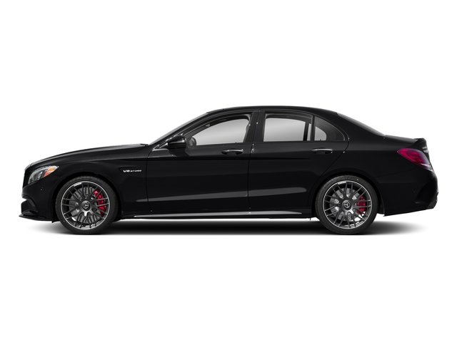 Black 2018 Mercedes-Benz C-Class Pictures C-Class AMG C 63 S Sedan photos side view