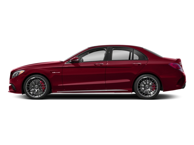 designo Cardinal Red Metallic 2018 Mercedes-Benz C-Class Pictures C-Class AMG C 63 S Sedan photos side view