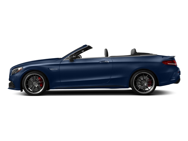 Brilliant Blue Metallic 2018 Mercedes-Benz C-Class Pictures C-Class AMG C 63 S Cabriolet photos side view