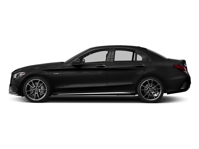 Obsidian Black Metallic 2018 Mercedes-Benz C-Class Pictures C-Class AMG C 43 4MATIC Sedan photos side view