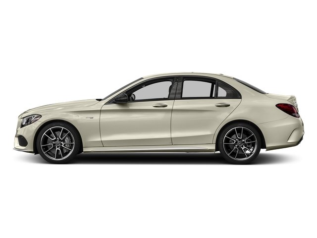 designo Diamond White Metallic 2018 Mercedes-Benz C-Class Pictures C-Class AMG C 43 4MATIC Sedan photos side view