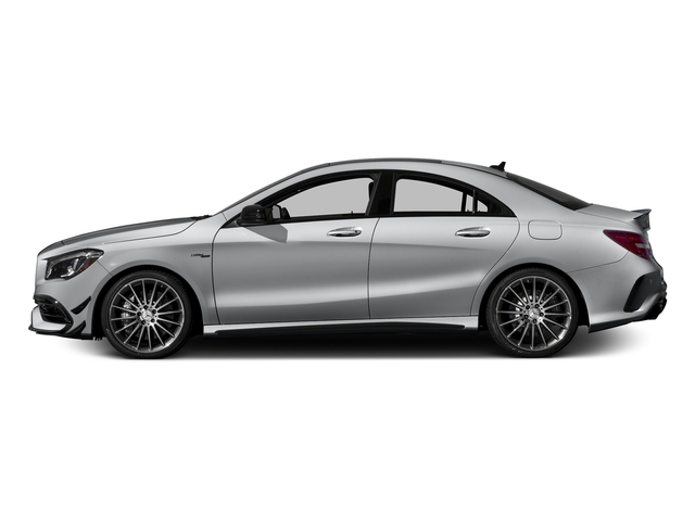 designo Magno Polar Silver (Matte Finish) 2018 Mercedes-Benz CLA Pictures CLA AMG CLA 45 4MATIC Coupe photos side view