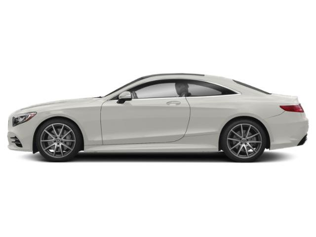 designo Cashmere White Magno 2018 Mercedes-Benz S-Class Pictures S-Class S 560 4MATIC Coupe photos side view