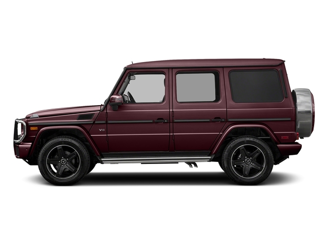 designo Mystic Red Metallic 2018 Mercedes-Benz G-Class Pictures G-Class G 550 4MATIC SUV photos side view