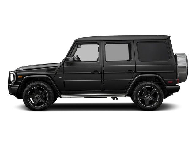 Obsidian Black Metallic 2018 Mercedes-Benz G-Class Pictures G-Class G 550 4MATIC SUV photos side view