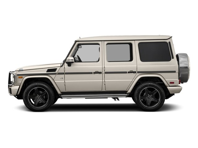 designo Manufaktur Desert Silver Metallic 2018 Mercedes-Benz G-Class Pictures G-Class G 550 4MATIC SUV photos side view