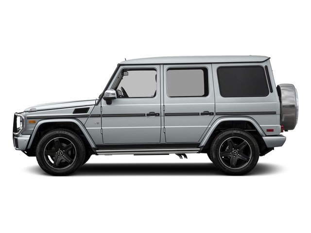 Diamond Silver Metallic 2018 Mercedes-Benz G-Class Pictures G-Class G 550 4MATIC SUV photos side view
