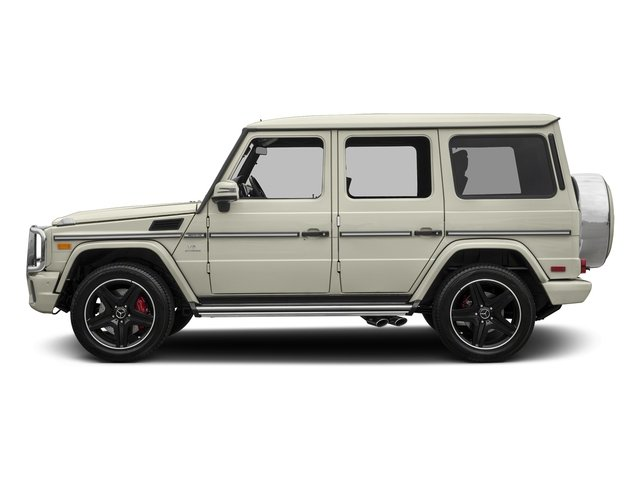 Polar White 2018 Mercedes-Benz G-Class Pictures G-Class AMG G 63 4MATIC SUV photos side view