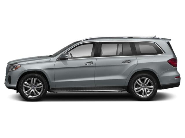 Diamond Silver Metallic 2018 Mercedes-Benz GLS Pictures GLS Utility 4D GLS450 AWD V6 Turbo photos side view