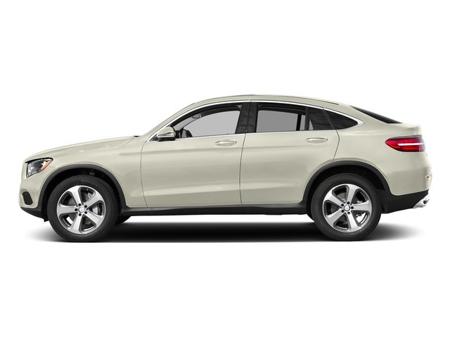 Polar White 2018 Mercedes-Benz GLC Pictures GLC GLC 300 4MATIC Coupe photos side view