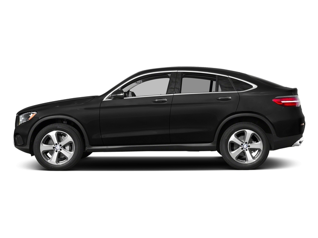 Obsidian Black Metallic 2018 Mercedes-Benz GLC Pictures GLC GLC 300 4MATIC Coupe photos side view