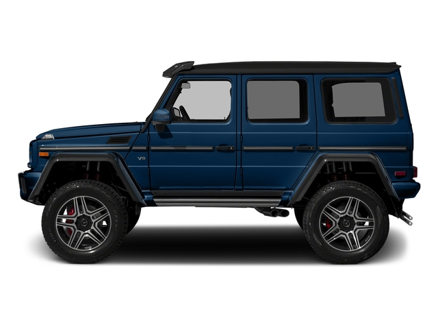 designo Manufaktur Slate Blue Varilcolor 2018 Mercedes-Benz G-Class Pictures G-Class G 550 4x4 Squared SUV photos side view