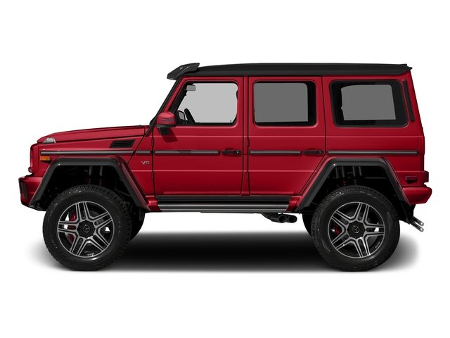 designo Manufaktur Magma Red 2018 Mercedes-Benz G-Class Pictures G-Class G 550 4x4 Squared SUV photos side view