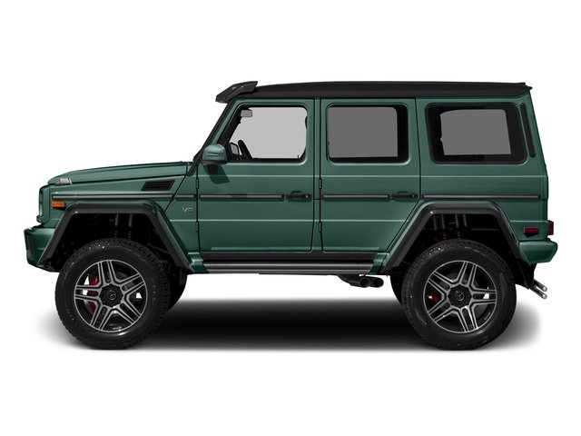 designo Manufaktur Agate Green 2018 Mercedes-Benz G-Class Pictures G-Class G 550 4x4 Squared SUV photos side view
