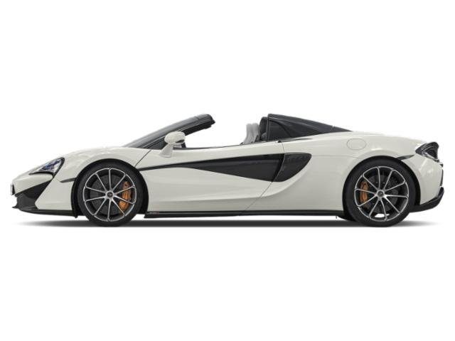 Pearl White 2018 McLaren 570S Pictures 570S Spider photos side view