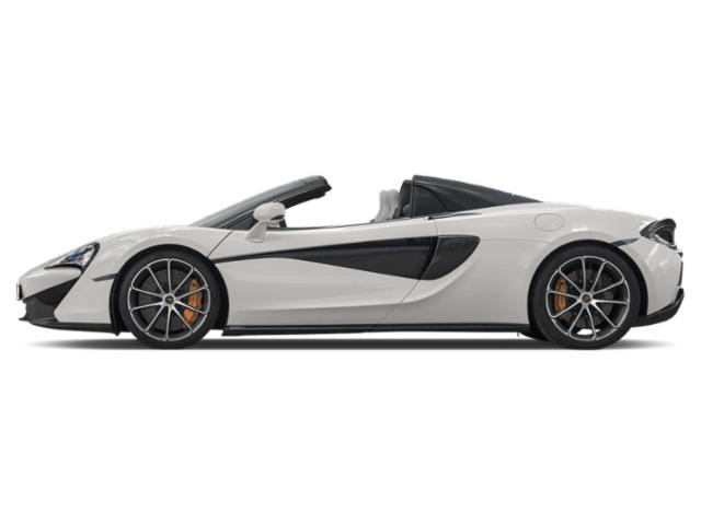 White 2018 McLaren 570S Pictures 570S Spider photos side view