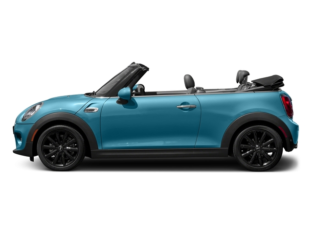 Caribbean Aqua Metallic 2018 MINI Convertible Pictures Convertible Cooper FWD photos side view