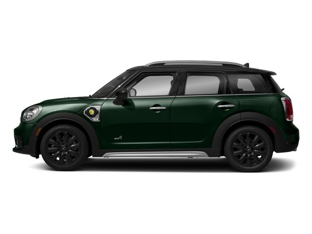 British Racing Green Metallic 2018 MINI Countryman Pictures Countryman Cooper S E ALL4 photos side view
