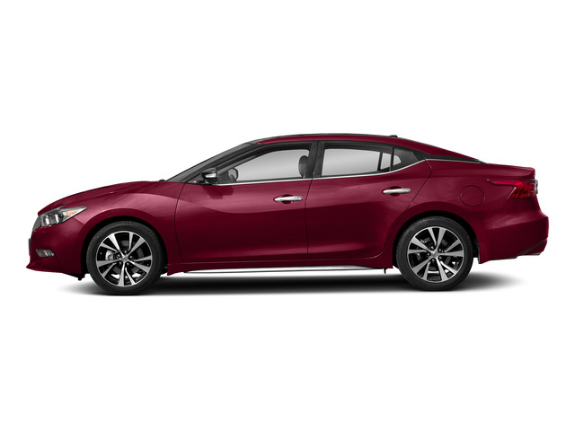 Carnelian Red 2018 Nissan Maxima Pictures Maxima Platinum 3.5L photos side view
